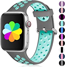 Haveda Compatible for Apple Watch Band 38mm 42mm 44mm 40mm Series 4, Breathable iwatch Bands 38mm Womens, Silicone Apple Watch 4 Band Sport Men Kid Wristband for iwatch Series 3/2/1 Nike+