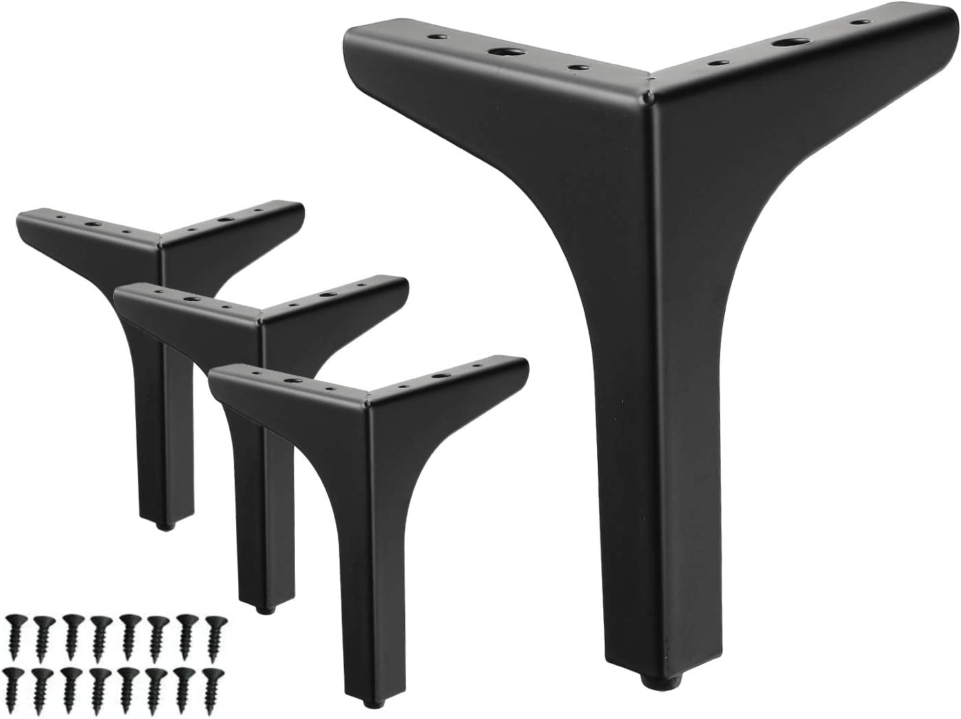 7 Max 71% OFF inch Bombing new work Metal Furniture Legs Tria Black WEICHEN Chrome