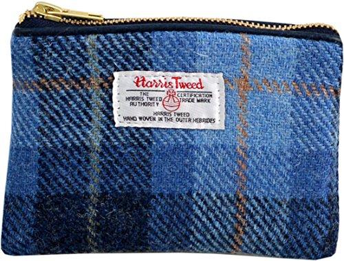Vagabond Bags Harris Tweed Blue Check Cosmetic Bag Trousse de toilette, 16 cm, Bleu (Mid Blue)