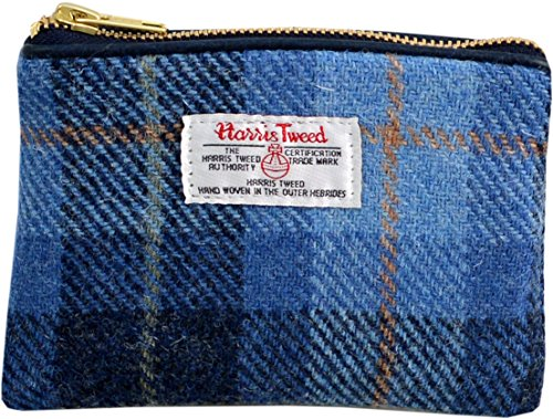 Vagabond Bags Harris Tweed Blue Check Cosmetic Bag Trousse de toilette, 16 cm, Bleu (Mid Blue)