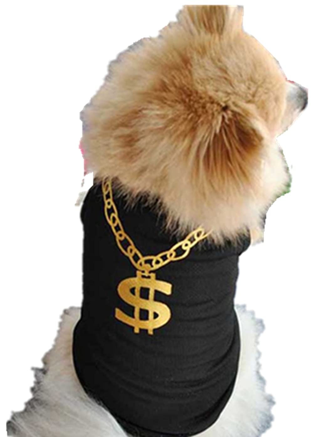 Axchongery Pet Vest, Handsome Dog Dollar T-Shirt Summer Cool Small Puppy Cat Doggy Clothes