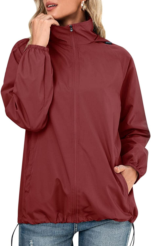 Women's Direct store Waterproof Raincoat Lightweight Hoo Packable Rain sold out Jacket