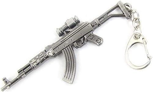 discount Mallofusa Miniature online sale Gray Metal AK47 Rifle Gun Model Keychain Key Ring new arrival Bag Pendant Decoration Decor outlet online sale