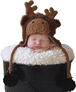 Huggalugs Baby and Toddler Moose Bear Buck Doe Camping Outdoors Beanie Hats, Pants, or Legwarmers