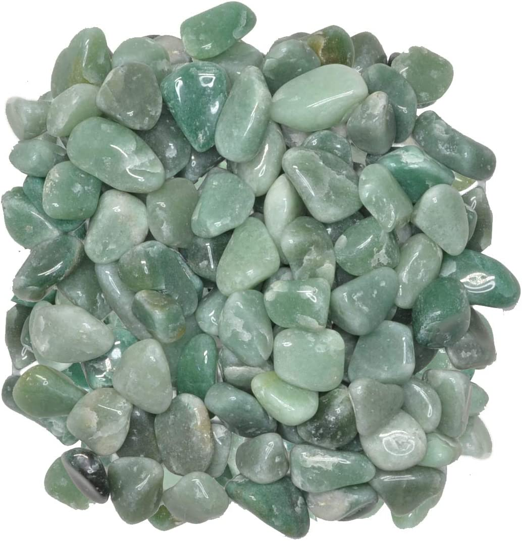 Hypnotic Gems Materials: 11 lbs Credence Tumbled Aventurine Stones Green Finally resale start