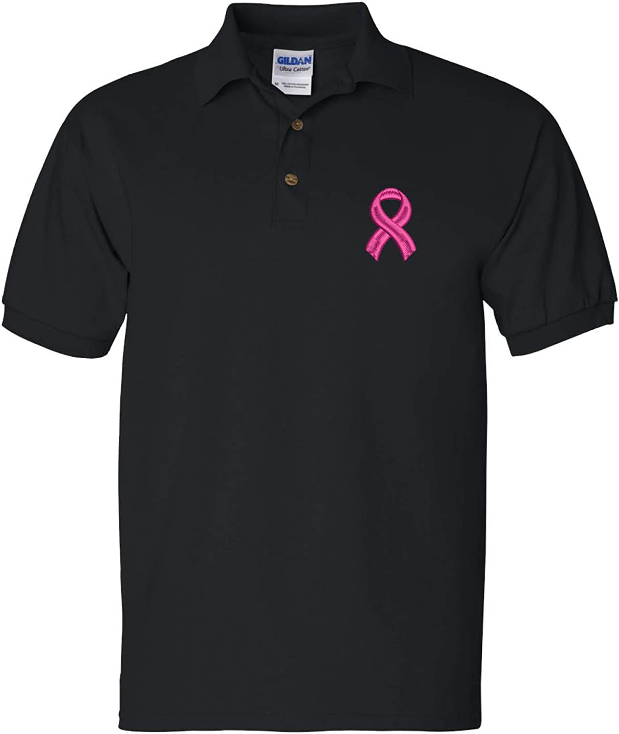 Product ALLNTRENDS Recommendation Men's Polo T Shirt Pink Support Cancer Breast Ribbon