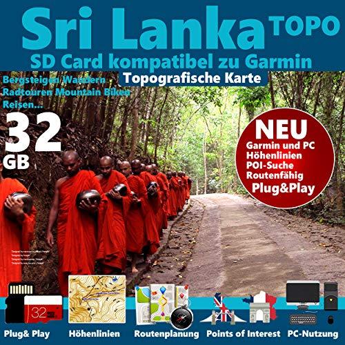 ★ Sri Lanka Karte Outdoor Topo GPS Karte microSD Card Navi, PC & MAC passend zu GARMIN Navigationsgeräte Navigationssoftware ★