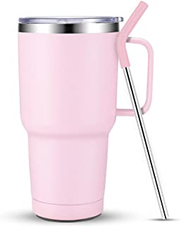 Sursip 30 oz Stainless Steel Tumbler/Mug/Cups,Double Wall Vacuum Insulated Water Mug with...