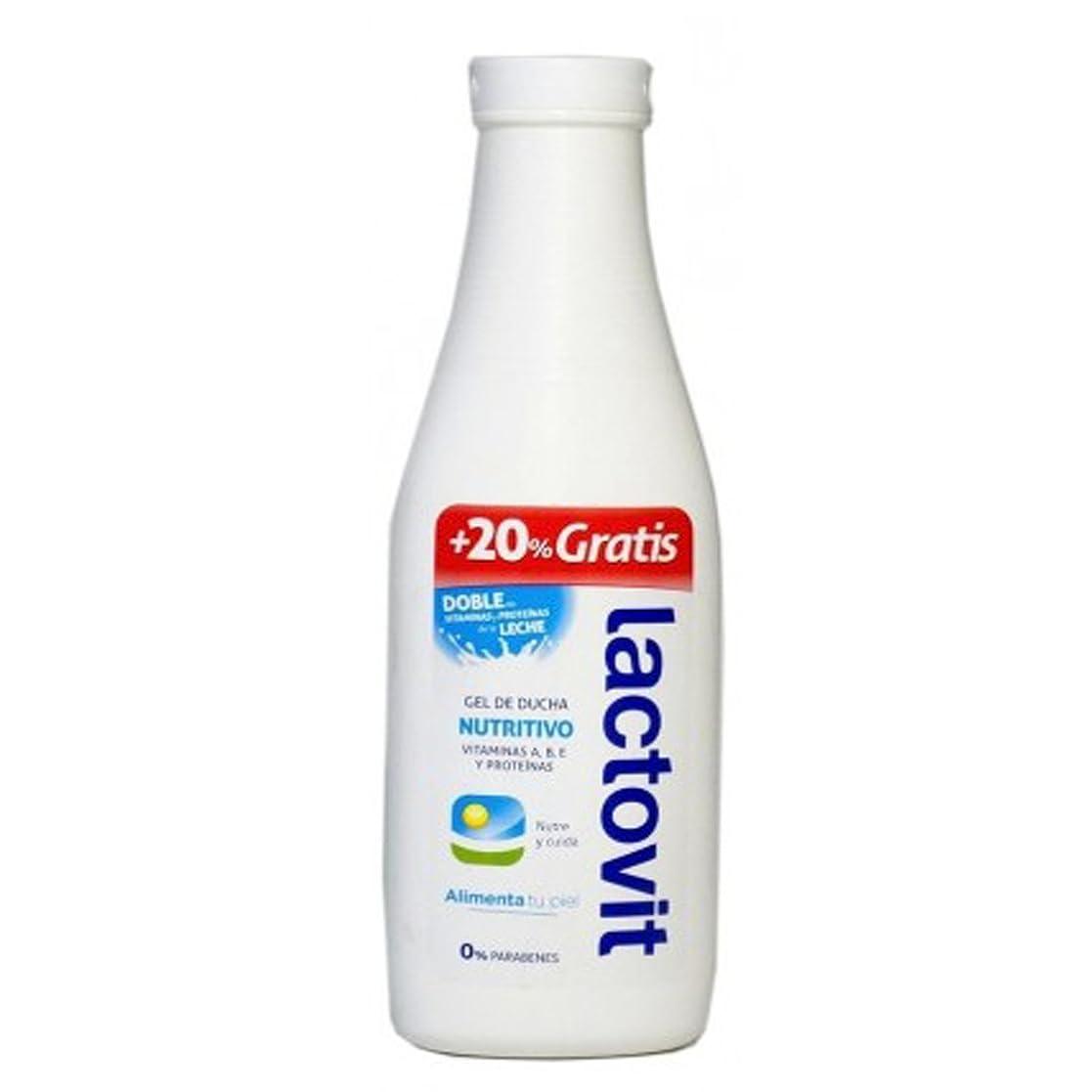 熟達六分儀大気Lactovit 栄養シャワージェル600mlの