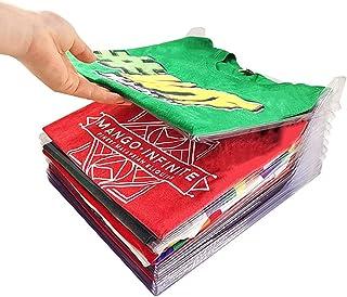 comprar comparacion Nifogo Organizador De Vestuario, Bolsa De Almacenamiento De Guardarropa, Camiseta Carpeta Sistema Antiarrugas De La Camise...