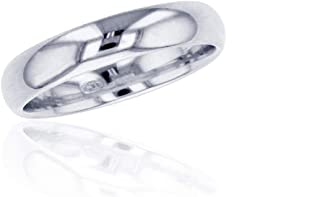 Decadence Sterling Silver Rhodium Polished Comfort Fit Plain Wedding Band Ring for Women and Men | 2mm, 4mm, 6mm Unisex | 925 White Plated Gold | Sizes 5-12