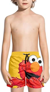 Boys Girls Sporty ELMO- Drawstring Adjustable Swimming Trunks Short Beach Shorts