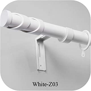 Curtain Rods Accessories Silence Curtain Poles Grommet,White,300cm