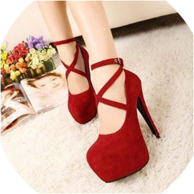 Mostand heeled-sandals High Thin Heels Spring Autumn T-Strap Buckle Strap Retro Round Toe 911866