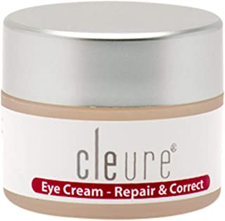 Cleure Hypoallergenic Eye Cream for Sensitive Skin | Formaldehyde - Fragrance - Gluten - Salicylate - Paraben - Phthalate Free | Anti-aging & Restoring Formula | 0.5 Oz