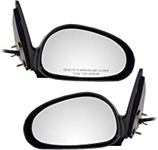Driver and Passenger Power Side View Mirrors Textured Replacement for Ford XR3Z 17682 BA XR3Z 17682 AA