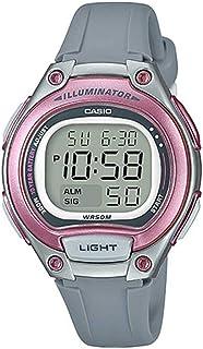 ساعة كاجوال مطاط من كاسيو للنساء، رمادى - LW-203-8AVDF