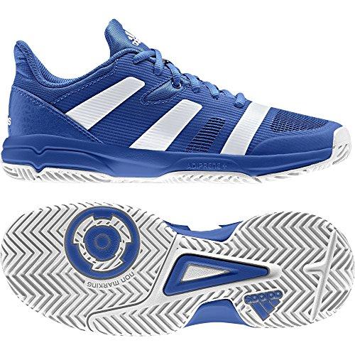 adidas Unisex-Kinder Stabil X Jr Handballschuhe, Blau (blau/Ftwbla/blau), 34 EU