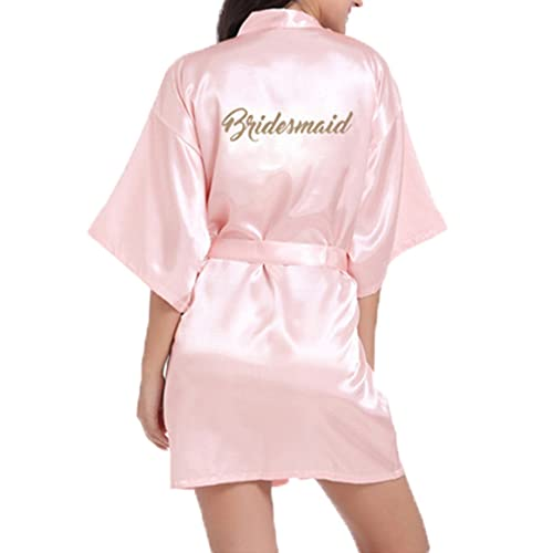 WPFING Bride Robes Satin Bridesmaid Robes Personalised for Bridal Party  Glitter b811d896c