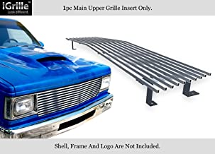 APS Compatible with 82-90 Chevy S-10 Pickup Blazer S-15 Jimmy Stainless T304 Billet Grille Grill Chrome Polished N19-S40058C