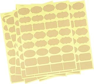 480 قطعة / 15 ورقة ملصقات لزجاجة الزيت العطري، ورق ملصق ملصق بني فارغة من كرافت مع لاصق لتخزين صناديق التخزين وبرطمانات ال...