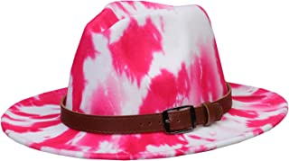 Jixin4you Wool Felt Fedora Trilby Hat Belt Buckle Homburg Gangster Panama Jazz Winter Cap