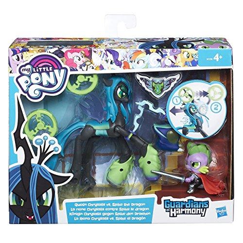 Hasbro B6009 My Little Pony Guardians of Harmony Queen Chrysalis vs Spike The Dragon Spielzeug, Sortiert Modelle, 1 Stück