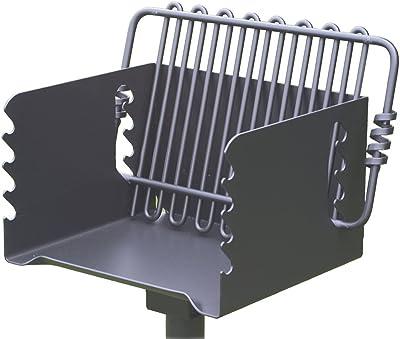 Pilot Rock Steel Park-Style Backyard Charcoal Grill - 16 1/4in.L x 14 1/8in.W, Model Number CPB-135