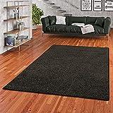 Snapstyle Mona - Alfombra Pelo Corto - Velour - Negro - 17 tamaños