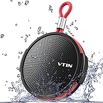 VTIN Soundhot Q1 Shower Speaker 8W Bluetooth Waterproof IPX5 Speaker, Portable Bluetooth Speaker with Loud HD Sound, 10H playtime Mini Speaker with Suction Cup, Built in Mic for Bathroom,Outdoor,Pool from VTIN