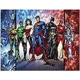 Jigsaw Puzzle Justice League Batman Superman Wooden Puzzle 300/500/1000/1500 Adult Educational Toys for Children (Color : D, Size : 1500tablets)