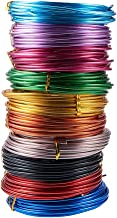 PandaHall 10 Rolls Aluminum Craft Wire 9 Guage Flexible Artistic Floral Colored Jewely Beading Wire for DIY Jewelry Craft Making Each Roll 16 Feet