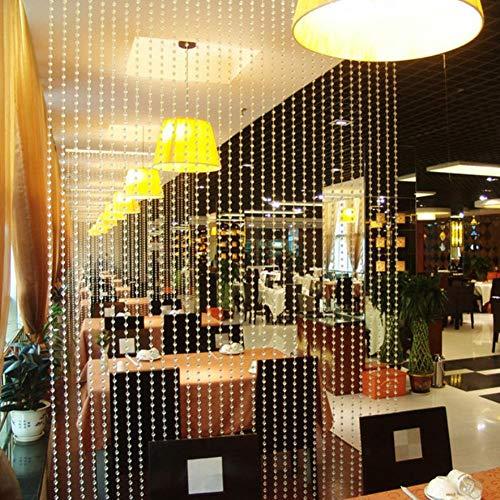 Oumefar Perlen Vorhang Fenster Raumteiler Blind Teiler Acryl Kristall Wandpaneel DIY Schmuck Herstellung für Tür Dekoration Weihnachtshochzeit Geburtstagsfeier(Color)