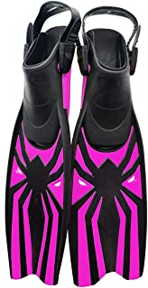 Kesida Diving Flippers Scuba Fins Available for Men & Women Snorkel Flippers with Open Heels Long Swimming Fins with Adjus...