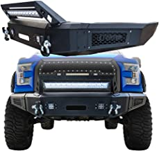 Hunter Ford Front Bumper Black Texture with 1X 144W Long LED Strip & 4X 18W Square LED Lights for 15-17 Ford F150(Excluding Raptor and Ecoboost)