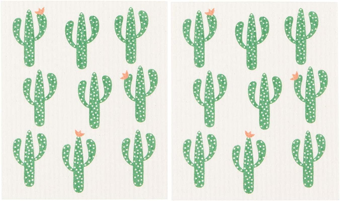 Now Designs Cacti Swedish Dishcloth Set Of 2 2000055