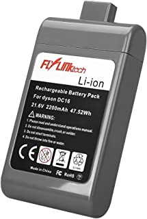 Flylinktech 2200mAh 21.6v Li-ion Replacement Battery for Dyson DC16 Battery Pack 12097 DC12 DC16 Root 6 BP01 Handheld Vacuum Cleaner