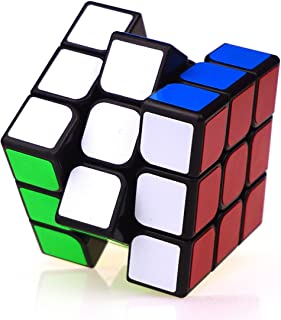 TANCH Speed Magic Cube 3x3x3 PVC Stickers Puzzle Game for Children & Adults Black