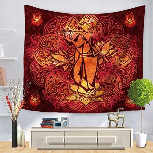 Tapiz de meditación de Buda indio colgante de pared tapiz de mandala revestimiento de pared psicodélico boho tela de fondo A7 130x150cm