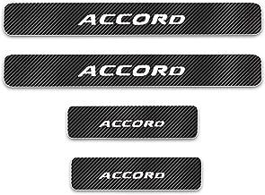 For Honda Accord Door Sill Protector Reflective 4D Carbon Fiber Sticker Door Entry Guard Door Sill Scuff Plate Stickers Auto Accessories 4Pcs White