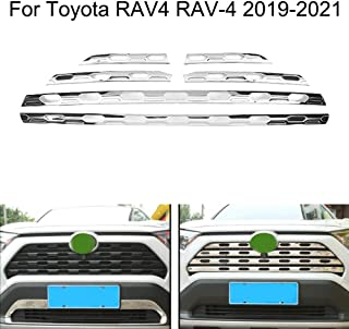 Yingchi Chrome Car Front Central Grille Cover Molding Insert Trims Strip for Toyota RAV4 2019-2020-2021
