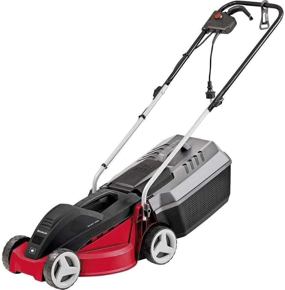 Einhell GCEM1030 Cortacésped eléctrico, 1000 V, 3 niveles, hasta 300m² de jardín, 25L de capacidad de bolsa, Rojo