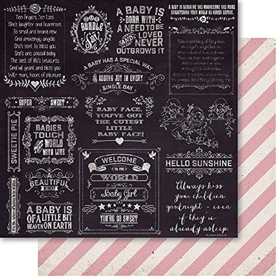 Bella! Baby Girl Double-Sided Cardstock 12