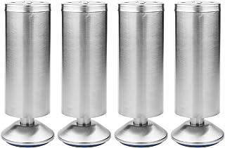 Patas para Muebles de Acero Inoxidable Ajustable para Muebles Cama Armario Sofá (50 * 150MM)