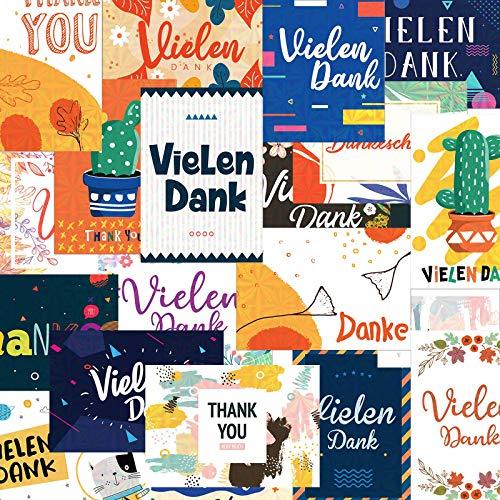 """Deeplay Danksagungskarten Dankeskarten, 20 Päckchen holografische\""""An dich denken\""""-Karten, Blankoschreiben Grußkarten für alle Gelegenheiten, Geschenkkarten für Hochzeit, Abschlussfeier"""