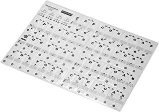 Bundle of 2,Decdeal Removable Transparent Piano Keyboard Stickers for 37/49/ 61/88 Keys Keyboards for Kids Beginners Piano...