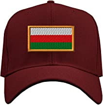 Custom Baseball Hat Bulgaria Embroidery City Name Structured Cap Hook & Loop