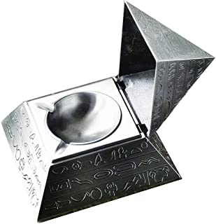 Unique Exquisite Windproof Pyramid Ashtray with Bas Reliefs Style Perfect Father's Day and Business Gift / Retro Egyptian Style Magic Pyramid Jewelry Storage Box Table Home Office Bar Decor for Men Sm