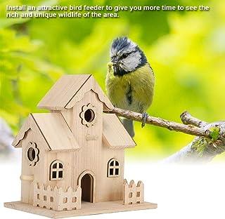Nannday Casa de pájaros, Nido de pájaros de Madera Nidos de pájaros Caja de nidos de pájaros Accesorios de pajareras Adornos de artesanía Casas de pájaros Kits de construcción Exterior para niños