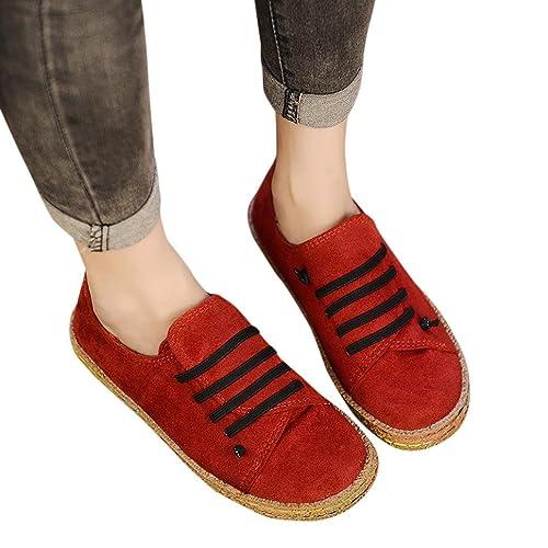 Calzado Chancletas Tacones Zapatos Individuales para Mujeres Tobillo Plano Suave de Las Señoras Gamuza Femenina Botas